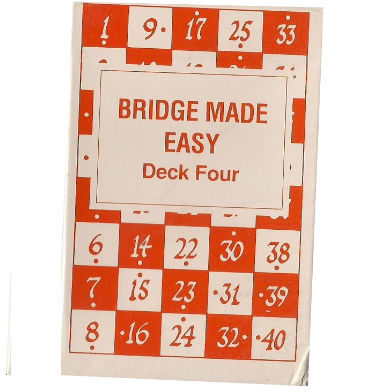 BRIDGE MADE EASY. CARDS DECK 4