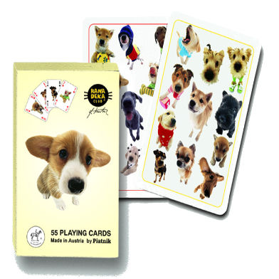 Hanadaka - Dogs Olaying Cards SD (Piatnik)